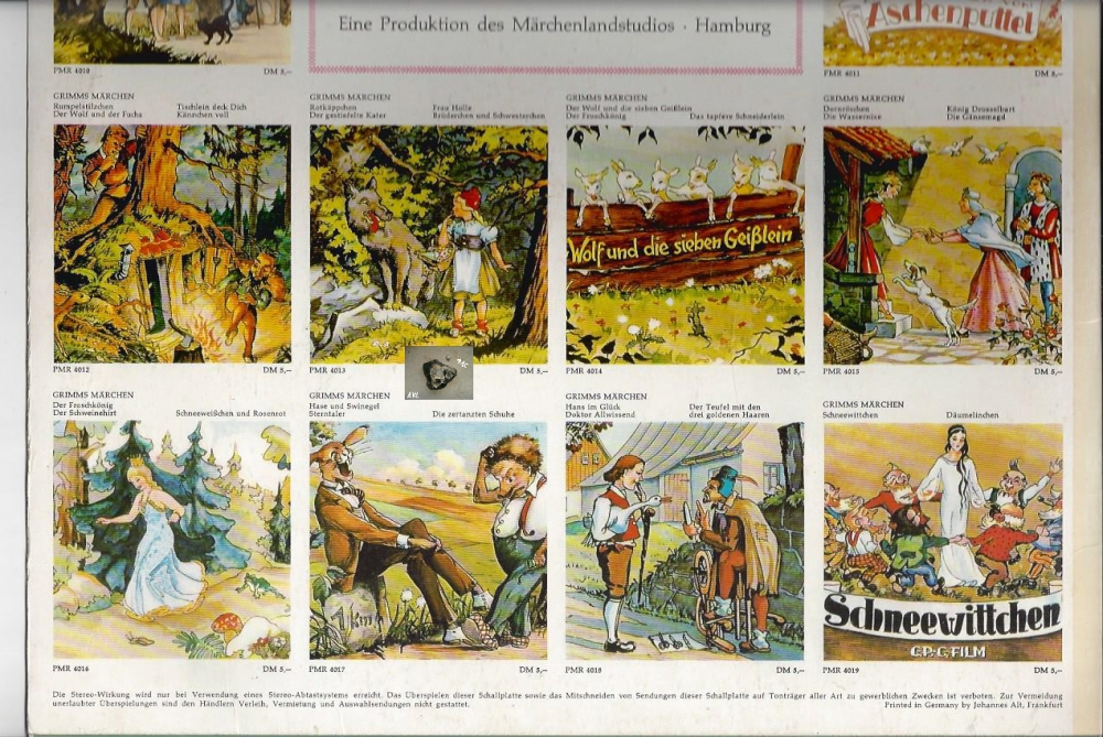 Grimms Märchen, Dornröschen, Die Wassernixe, primaphon, LP - P&C Inh ...