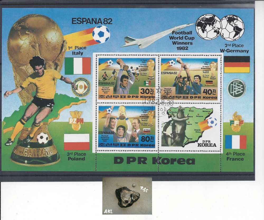 Bild 1 von Briefmarken, Block, Ausland, football world cup winners 1982