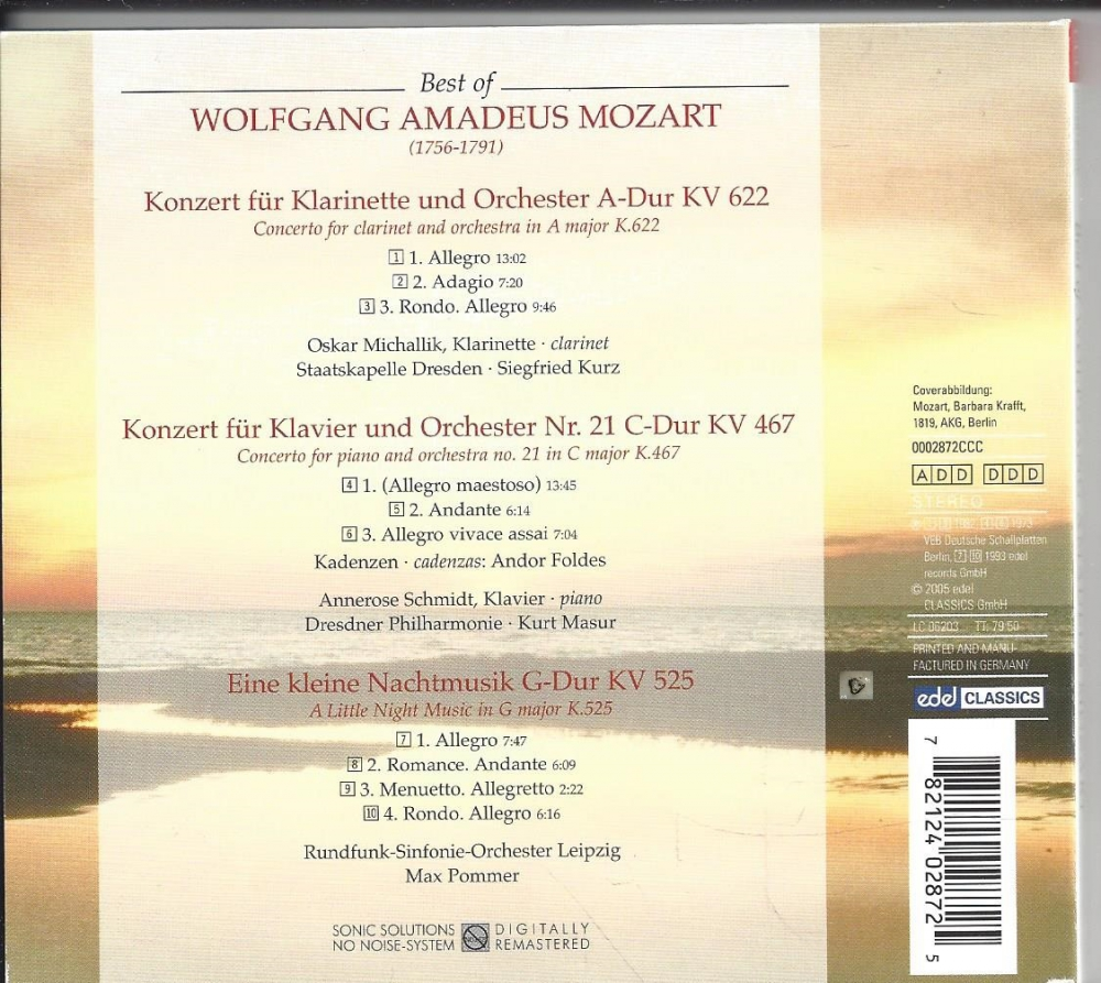 Best of Wolfgang Amadeus Mozart, CD - P&C Inh. Andrea Kleinschmidt ...